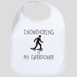 SNOWSHOEING is My Superpower Bib