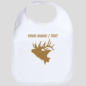 Custom Brown Elk Head Bib