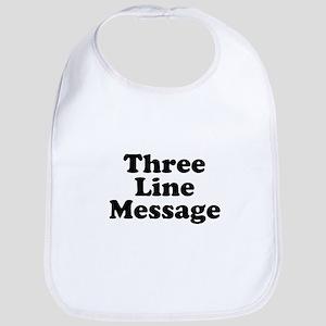 Big Three Line Message Bib