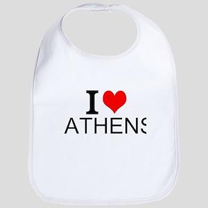 I Love Athens Bib
