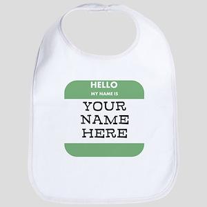 Custom Green Name Tag Bib