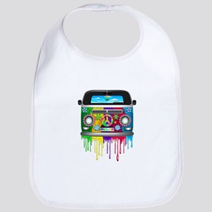 Hippie Van Dripping Rainbow Paint Bib