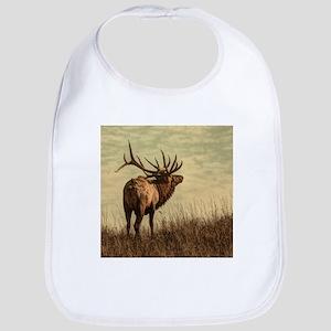 rustic western wild elk Bib