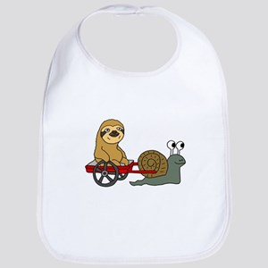 Snail Pulling Wagon with Sloth Bib