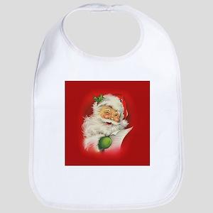 Vintage Christmas Santa Claus Bib