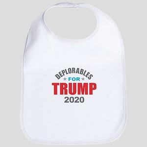 Deplorables for Trump 2020 Baby Bib