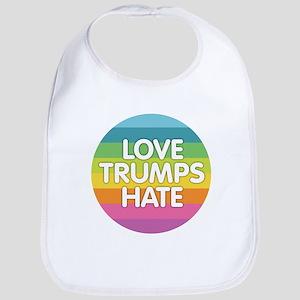 Love Trumps Hate Baby Bib
