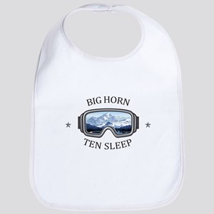Big Horn - Ten Sleep - Wyoming Baby Bib