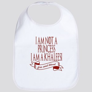 I am not a princess I am a khaleesi Game Baby Bib