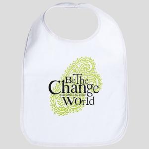 Paisley Green - Be the change Bib