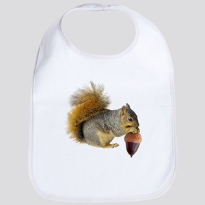 Squirrel Eating Acorn Bib