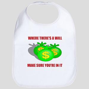 INHERIT MONEY Bib