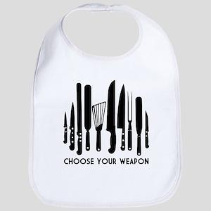 Choose Weapon Cotton Baby Bib