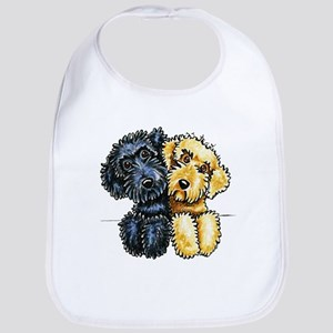 Labradoodles Lined Up Bib