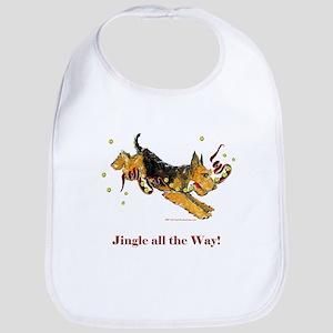 Welsh Terrier Holiday Dog! Bib