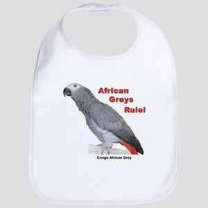 African Greys Rule Bib