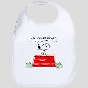 Crabby Snoopy Bib