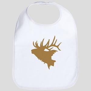 Brown Elk Head Bib