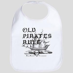 Old Pirates Rule Bib
