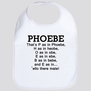 'P as in Phoebe' Bib
