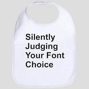 Silently Font Cotton Baby Bib