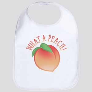 Cute What A Peach Bib