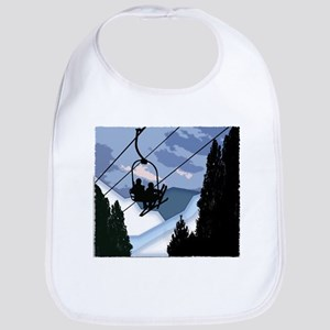 Chairlift Full of Skiers Bib