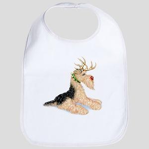 Airedale Christmas Dale Deer Bib