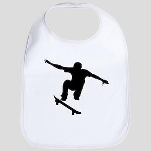 Skateboarder Silhouette Bib