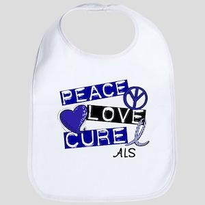 PEACE LOVE CURE ALS (L1) Bib