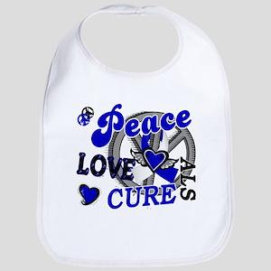 Peace Love Cure ALS 2 Bib