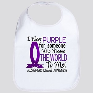 Means World To Me 1 Alzheimer's Disease Shirts Bib