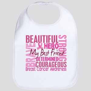 Tribute Square Breast Cancer Bib
