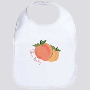 Life Is Peachy Bib