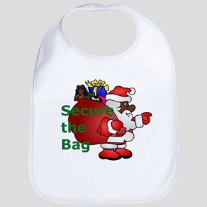 secure the bag santa Baby Bib