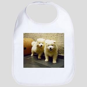 LS samoyed puppy Baby Bib