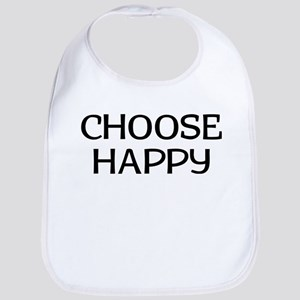 Choose Happy Cotton Baby Bib