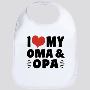 I Love My Oma and Opa Bib