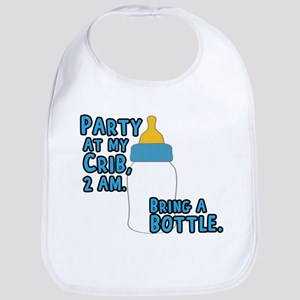 Party At My Crib Cotton Baby Bib