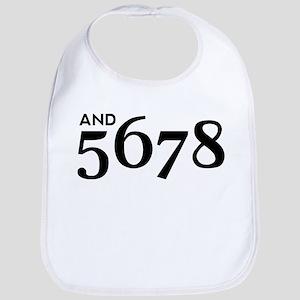 And 5678 Cotton Baby Bib