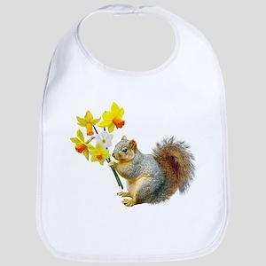 Squirrel Daffodils Bib