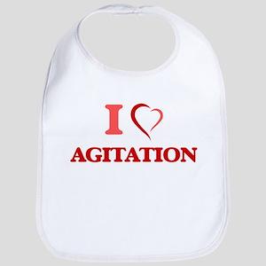 I Love Agitation Baby Bib