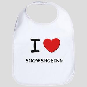 I love snowshoeing  Bib