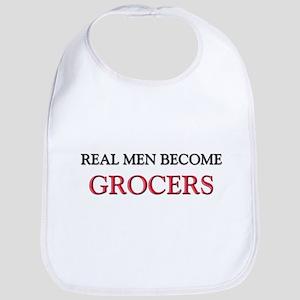 Real Men Become Grocers Bib
