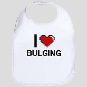 I Love Bulging Digitial Design Bib