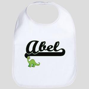 Abel Classic Name Design with Dinosaur Bib