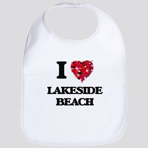 I love Lakeside Beach Michigan Bib