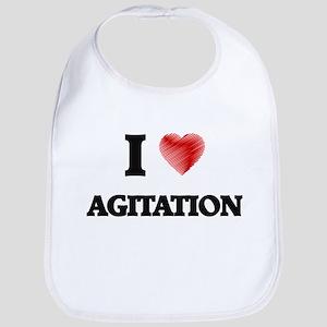 I Love AGITATION Bib