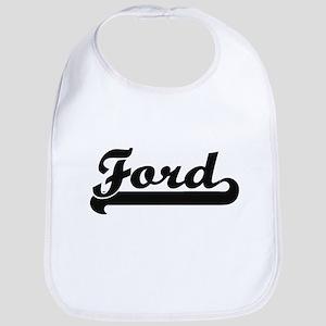 Ford surname classic retro design Bib