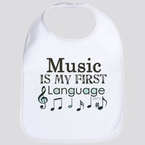 Music is my first Language Bib